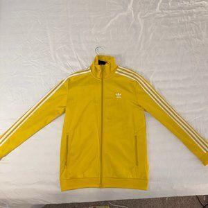 Mens Adidas yellow track jacket